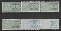 ALGERIE - FISCAUX - LOT De 6 Timbres** - Argelia (1924-1962)