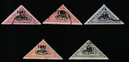 LIBERIA - Timbres Pour Lettres Chargées - N° 30/34 Obl (1921) Vipère Du Gabon - Liberia