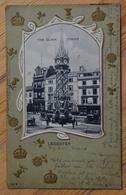 Leicester - The Clock Tower - Carte Avec Décor Inhabituel En Relief - Unusual Relief Decoration - Dos Simple - (n°13023) - Leicester