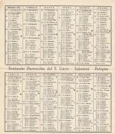 SANTINO HOLY CARD CALENDARIO SALESIANI 1953 (SN157 - Calendari