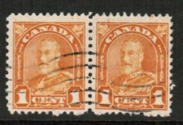 CANADA  Scott # 162 VF USED PAIR (Stamp Scan # 416) - 1911-1935 Reign Of George V