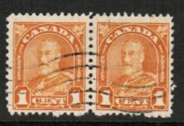 CANADA  Scott # 162 VF USED PAIR (Stamp Scan # 416) - 1911-1935 Règne De George V