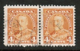 CANADA  Scott # 220 VF USED PAIR (Stamp Scan # 416) - 1911-1935 Reign Of George V