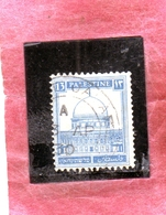 PALESTINE PALESTINA 1927 1942 MOSQUE OF OMAR DOME OF THE ROCK 13m USATO USED OBLITERE' - Palestina