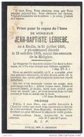 ETALLE ..--  Mr Jean - Baptiste LEGUEBE . Né En 1856 , Décédé En 1919 .  Usure !! - Etalle