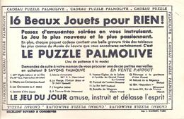 Buvard PALMOLIVE 16 Beaux Jouets Pour Rien! Le Puzzle PALMOLIVE - Perfume & Beauty