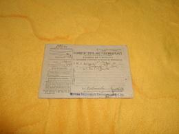 CARTE ORDRE D'APPEL SOUS LES DRAPEAUX DATE ?.../ MARQUE BUREAU REGIONAL DE RECRUTEMENT DE LILLE.. - Army & War