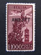 """ITALIA Trieste Aerea AMG-FTT -1949-52- """"Campodoglio"""" £. 1000 MNH** (descrizione) - 7. Trieste"""