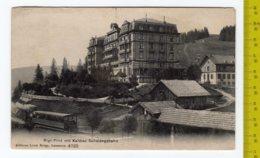 1907 LAUSANNE  Rigi-First Mit Kaltbad- Scheideggbahn FP V SEE 2 SCANS Train - VD Vaud