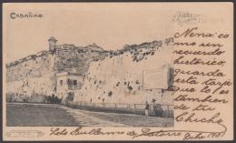 POS-1002 CUBA POSTCARD. 1901. GREETING FROM HAVANA. CABAÑA CASTLE. - Cuba