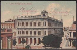 POS-1012 CUBA POSTCARD. 1908. CENTRO DE DEPENDIENTES DE LA HABANA. - Cuba