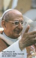 SCHEDA TELEFONICA NUOVA VATICANO SCV38 PAOLO VI CENTENARIO NASCITA - Vaticaanstad