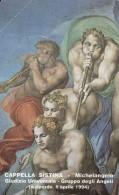 SCHEDA TELEFONICA NUOVA VATICANO SCV4 CAPPELLA SISTINA MICHELANGELO - Vaticano