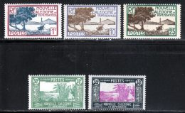 Nouvelle-Caledonie 1928 Yvert 139 - 143 - 146 - 147 - 147A ** TB - New Caledonia