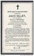 ETALLE ..-- Mr Joseph GILLET , Veuf De Mme Rosalie BONDEAU . Né En 1849 , Décédé En 1916 . - Etalle