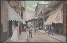 POS-1028 CUBA POSTCARD. CIRCA 1905. CALLE OBISPO STREET, HABANA. - Cuba