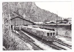 CPM VOIR DOS 66 Villefranche De Conflent Vernet Rames Du Train Jaune SNCF Au Dépôt En Avril 1981 - Non Classificati