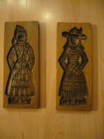 2x Holzmodel - Backform - älter (618) - Wood