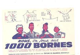 Buvard Edmond Dujardin 1000 Bornes Nous On Joue Aux 1000 Bornes - Stationeries (flat Articles)