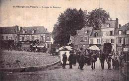 C P A Eure 27 St Georges Du Vièvre Avenue De Lieurey Carte Animée - Other Municipalities