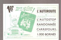 Buvard Edmond Dujardin 1er Pour Le Code De La Route (couleur Vert) - Stationeries (flat Articles)