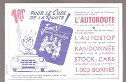 Buvard Edmond Dujardin 1er Pour Le Code De La Route (couleur Bleu) - Stationeries (flat Articles)