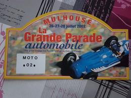 Plaque Rallye Mulhouse 2002 - Racing