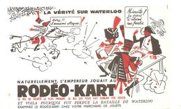 Buvard Rodéo Kart Naturellement, L'Empereur Jouait Au Rodéo Kart La Vérité Sur Waterloo - Stationeries (flat Articles)