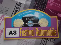 Plaque Rallye Mulhouse 2003 - Racing