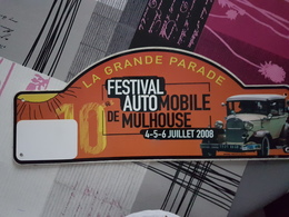 Plaque Rallye Mulhouse 2008 - Voitures (Courses)