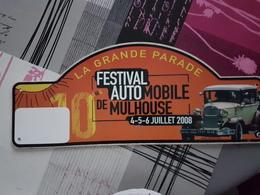 Plaque Rallye Mulhouse 2008 - Racing