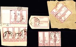 IRAN -  1887-1913 Registration Labels Sold As 1 Chahi - Iran