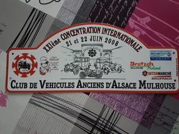 Plaque Rallye Alsace Mulhouse 2008 - Voitures (Courses)
