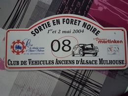 Plaque Rallye Alsace 2004 - Voitures (Courses)