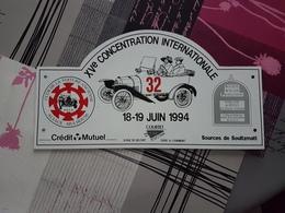 Plaque Rallye Alsace 1994 - Voitures (Courses)