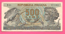 500 Lire 1970 Repubblica Italiana Aretusa - [ 2] 1946-… : Repubblica