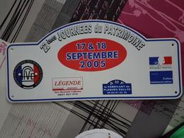 Plaque Rallye 2005 - Voitures (Courses)