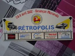 Plaque Rallye Franche Comté 2007 - Voitures (Courses)