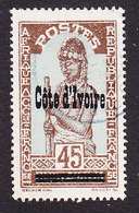 Ivory Coast, Scott #104, Used, Stamps Of Upper Volta Overprinted, Issued 1933 - Ivoorkust (1892-1944)