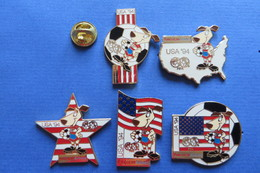 Tres Belle Et Rare Serie De 5 Pin's,football,World Cup USA94,Sponsor AMERICAN AIRLINES, AA, Soccer, Sport - Badges