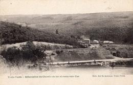 BELGIQUE TROIS-PONTS BIFURCATION DU CHEMIN DE FER ET ROUTE VERS COO (CARTE PRECURSEUR ) - Trois-Ponts