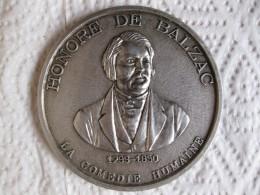 Médaille Honore De Balzac 1799 1850, La Comédie Humaine Par G.L.M. - France