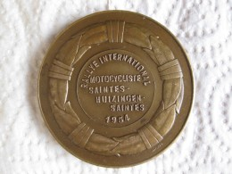 Médaille Rallye International Motocycliste Saintes - Huizingen - Saintes 1954 , Par Michel - Belgium
