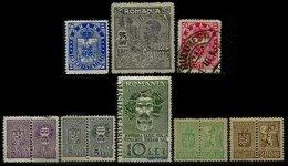 ROMANIA, Statistical Fees, */o M/U, F/VF - Revenue Stamps