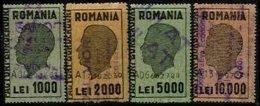 ROMANIA, Invoices, Used, F/VF - Revenue Stamps