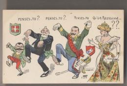 Illustration Norwins - E.LOUBET , KAISER, Reine VICTORIA - Penses Tu ? Qu' ça Réussisse ?  - Politique - Satire - Norwins
