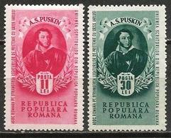 Romania 1949 Scott 704-705 MNH Puskin - Nuevos