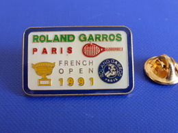 Pin's Tennis Roland Garros Paris French Open 1991 - Internationaux De France (PL14) - Tennis