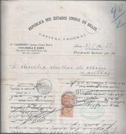 Procuração Emitida No Consulado De Portugal No Brasil Em 1926. Stamp Do Consulado De 1ª Classe. Rare. 3 Scn. - Portugal