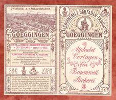 Faltkarte, Zwirnerei & Naehfaden-Fabrik Goeggingen, Alphabet Vorlagen Fuer Baumwoll Stickerei (56957) - Historical Documents
